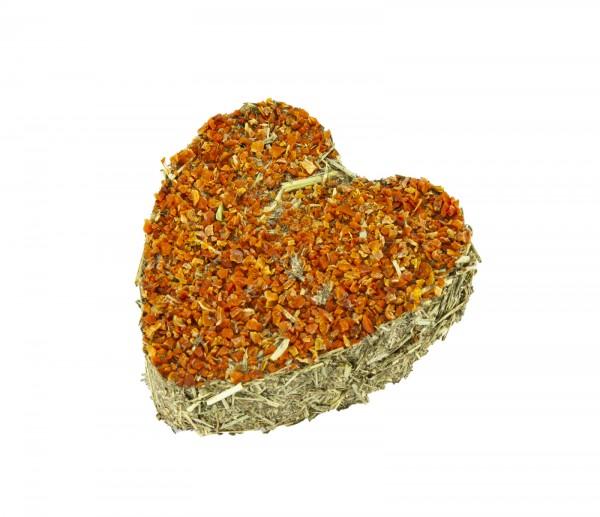 Timothy-Herz mit Karottenstückchen