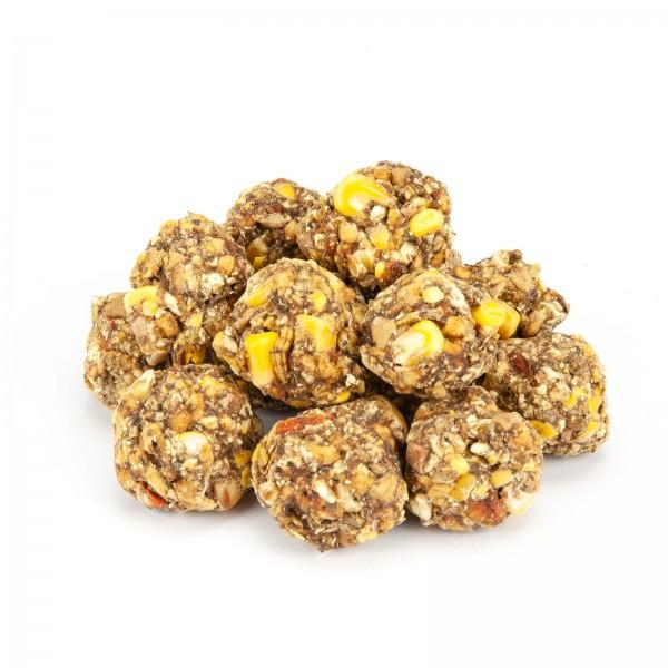 Knabberbällchen mit Mehlwürmern, Apfel & Karotte