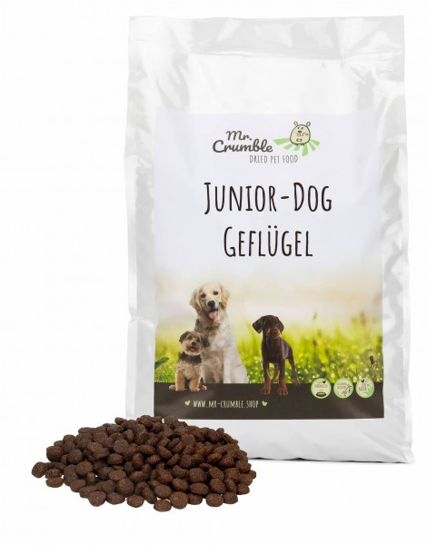 Welpenfutter Junior-Dog Geflügel-Probe